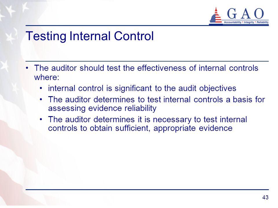 Testing Internal Control