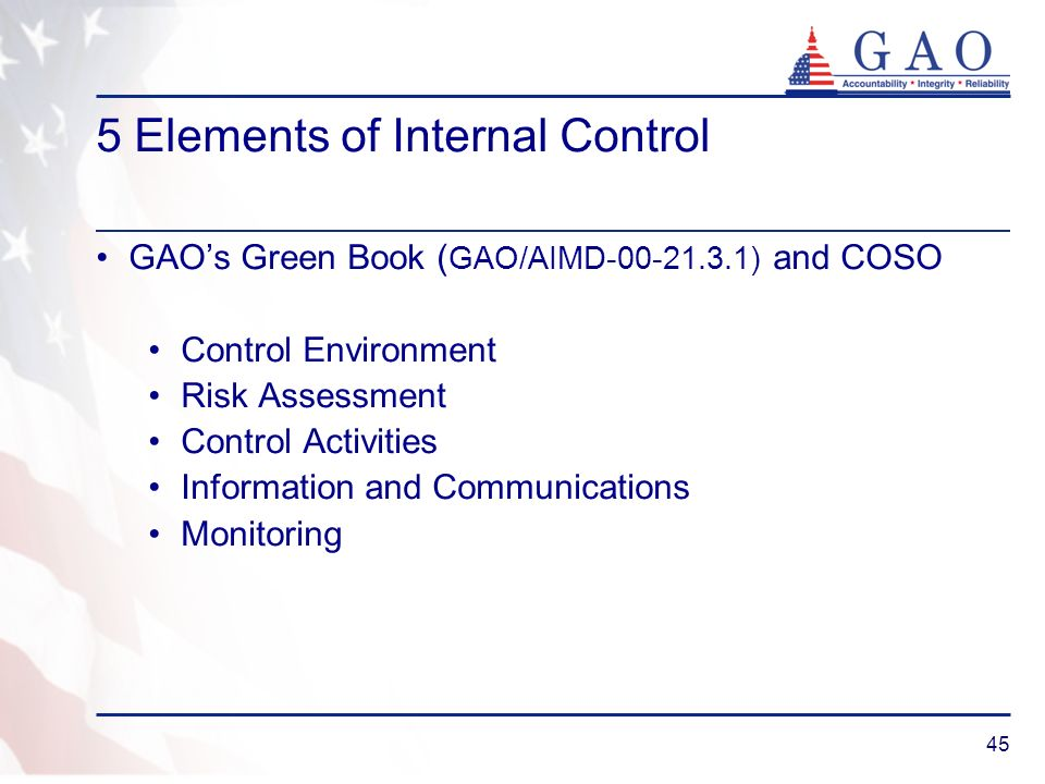 5 Elements of Internal Control