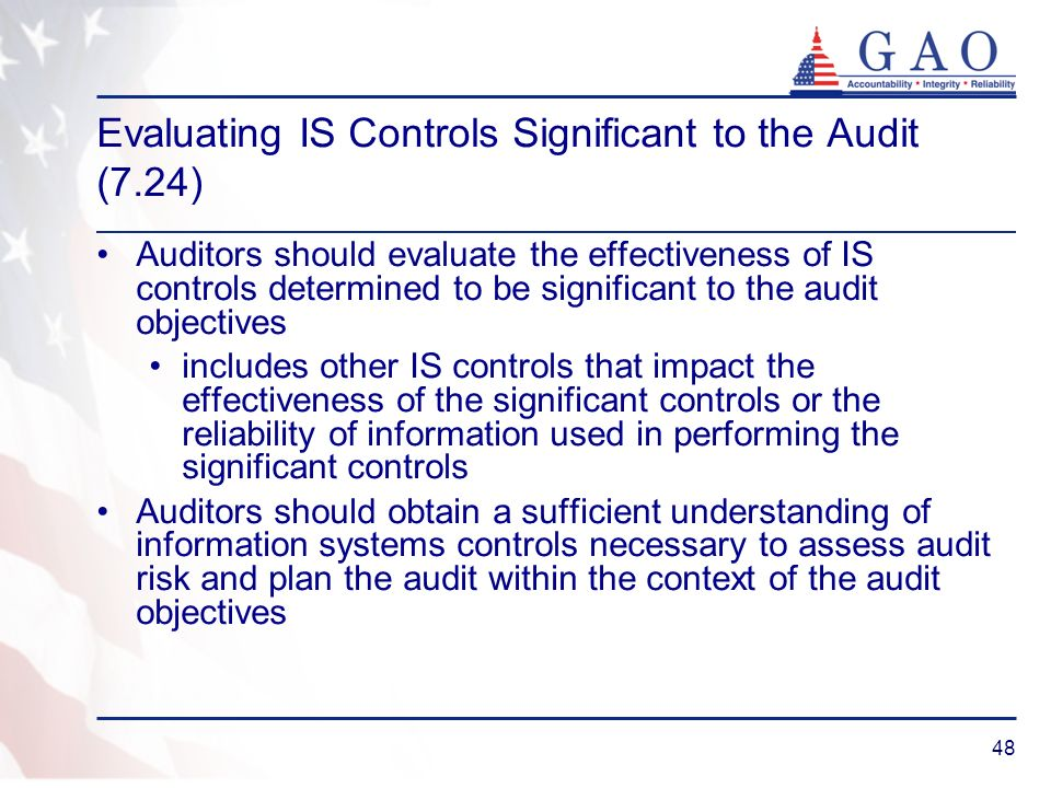 Evaluating IS Controls Significant to the Audit (7.24)