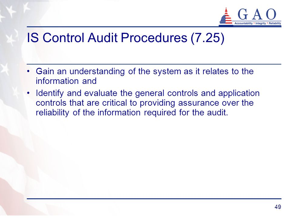 IS Control Audit Procedures (7.25)