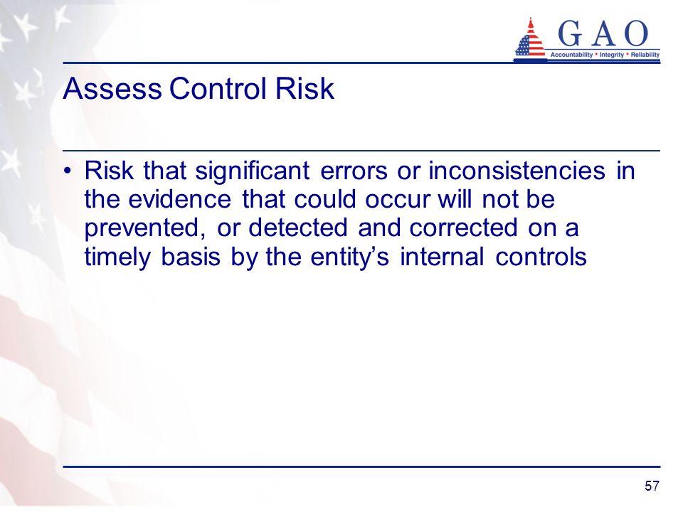 Assess Control Risk