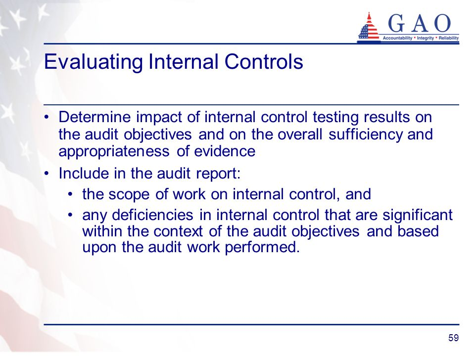 Evaluating Internal Controls