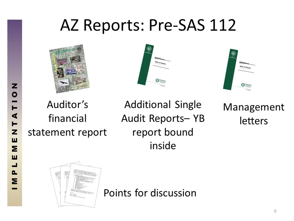AZ Reports: Pre-SAS 112 Auditor's financial statement report