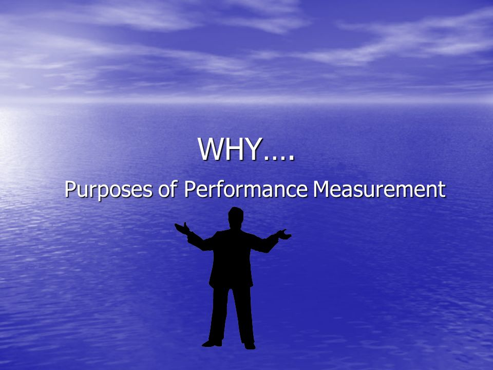 Purposes of Performance Measurement
