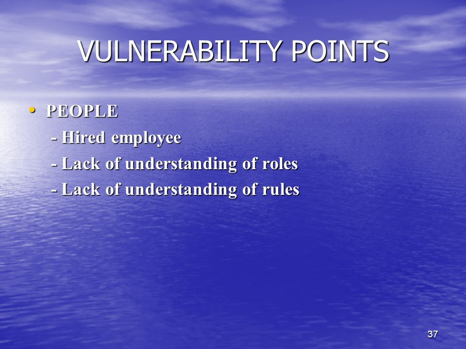 VULNERABILITY POINTS PEOPLE - Hired employee