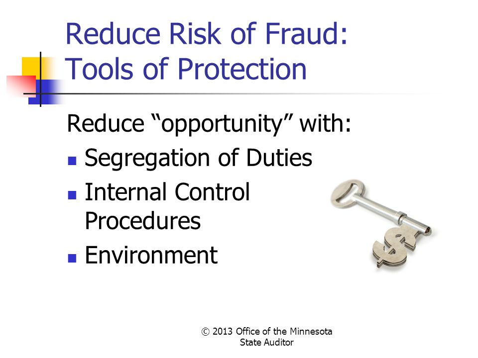 Reduce Risk of Fraud: Tools of Protection