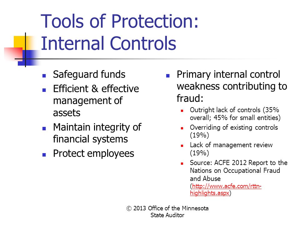 Tools of Protection: Internal Controls