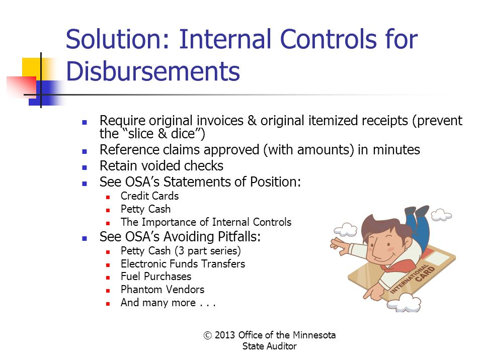 Solution: Internal Controls for Disbursements