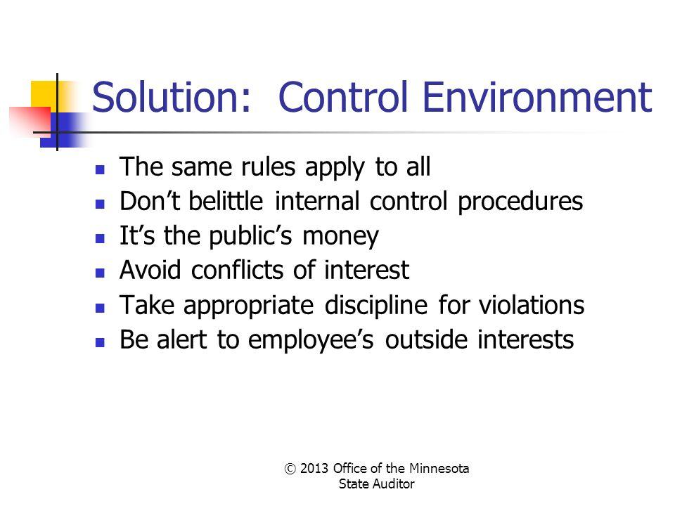 Solution: Control Environment