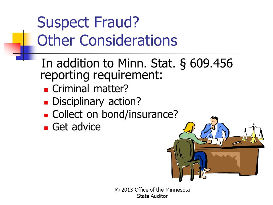 Suspect Fraud Other Considerations