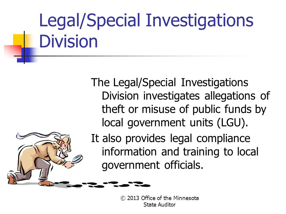 Legal/Special Investigations Division