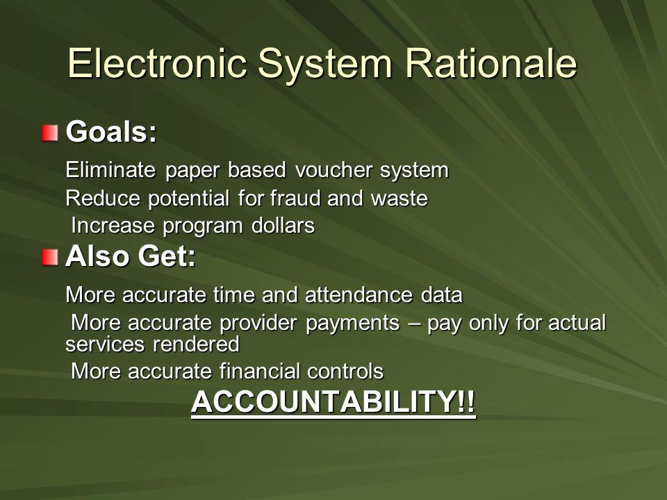Electronic System Rationale