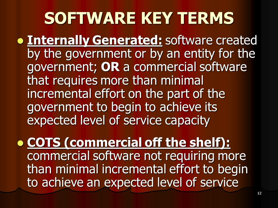 SOFTWARE KEY TERMS