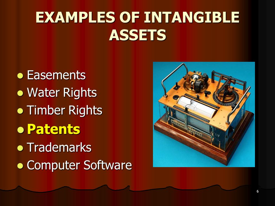 EXAMPLES OF INTANGIBLE ASSETS
