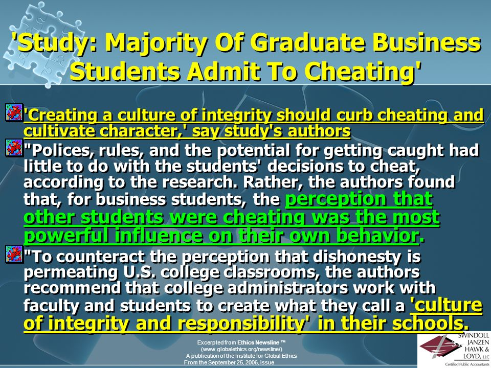 Study: Majority Of Graduate Business Students Admit To Cheating