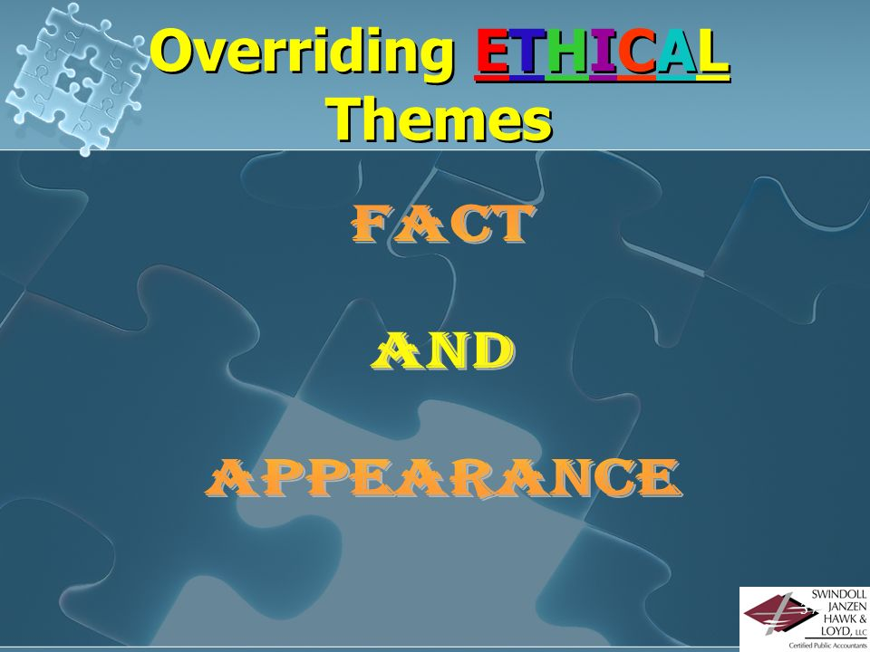 Overriding ETHICAL Themes
