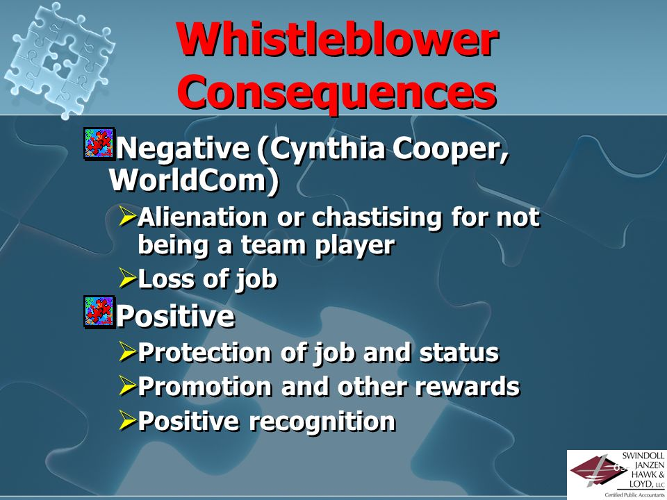Whistleblower Consequences