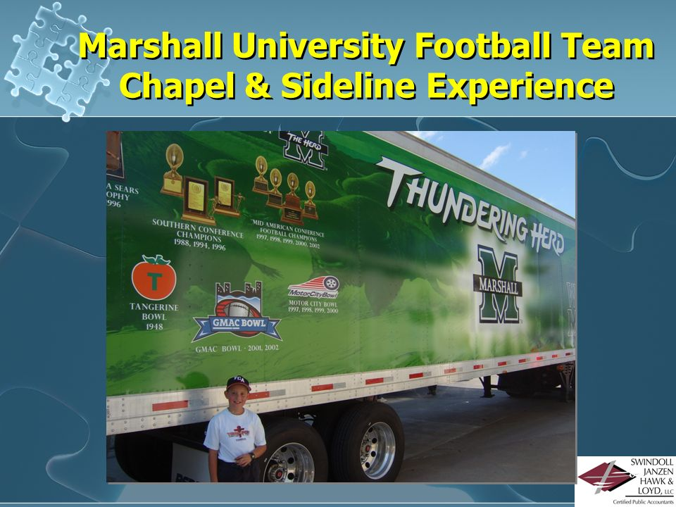 Marshall University Football Team Chapel & Sideline Experience