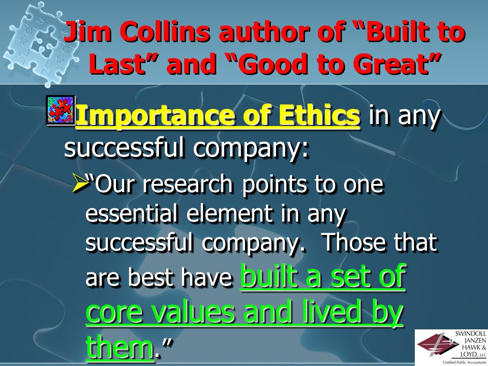 Jim Collins author of Built to Last and Good to Great