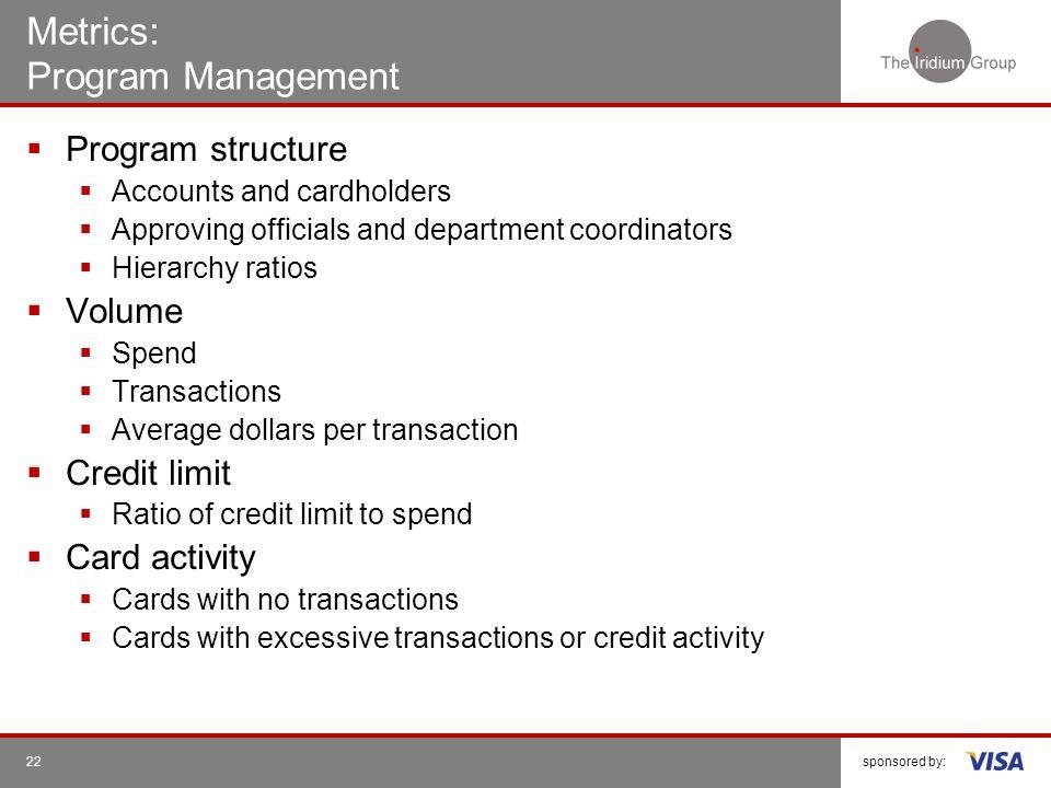 Metrics: Program Management