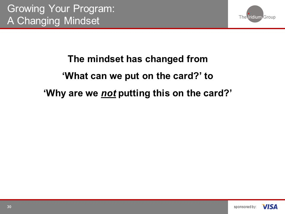 Growing Your Program: A Changing Mindset