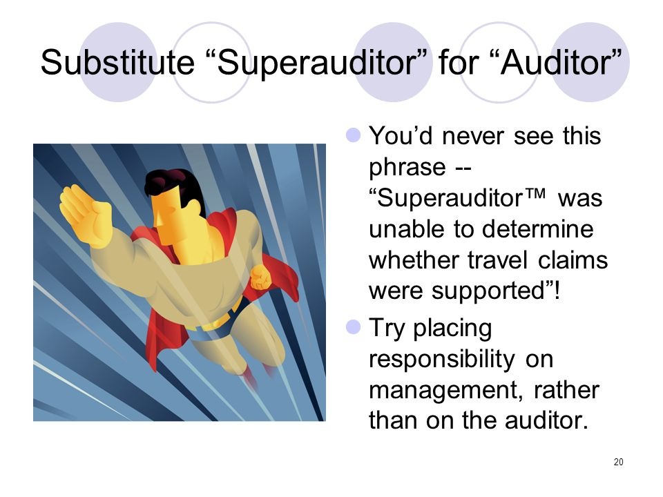 Substitute Superauditor for Auditor