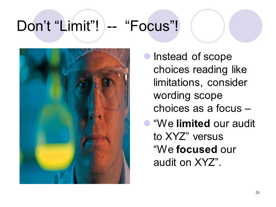 Don't Limit ! -- Focus !