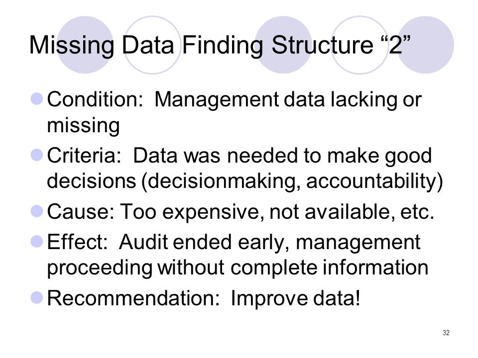 Missing Data Finding Structure 2
