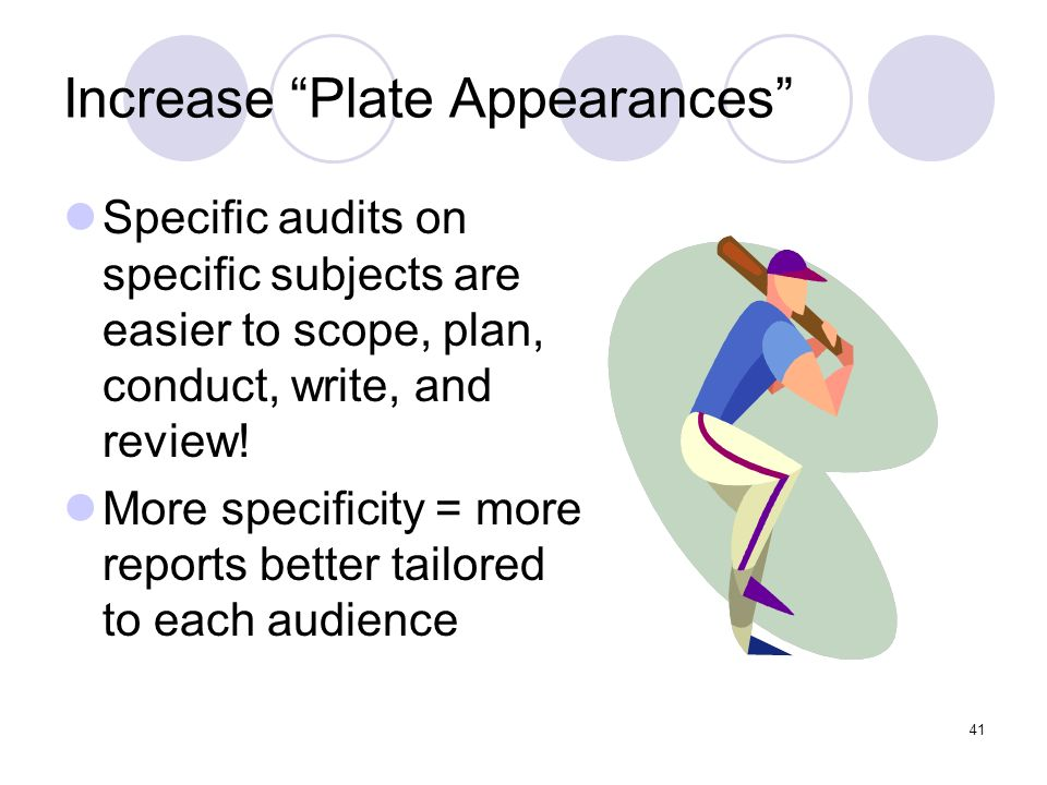 Increase Plate Appearances