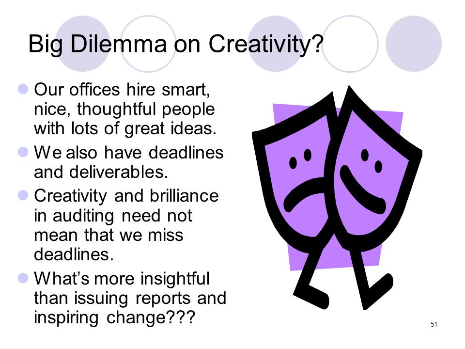 Big Dilemma on Creativity