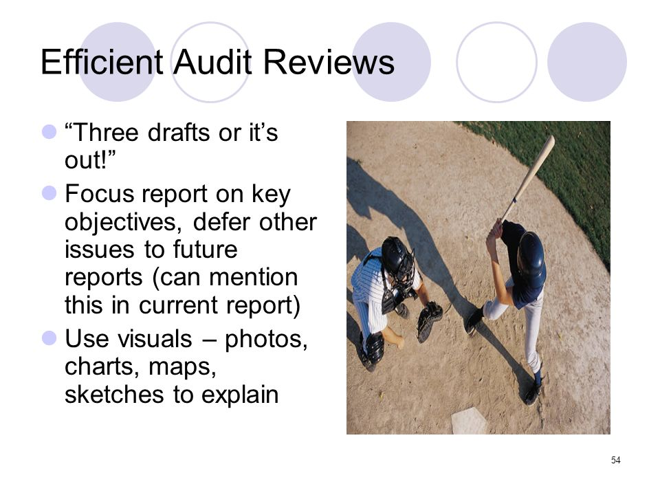 Efficient Audit Reviews