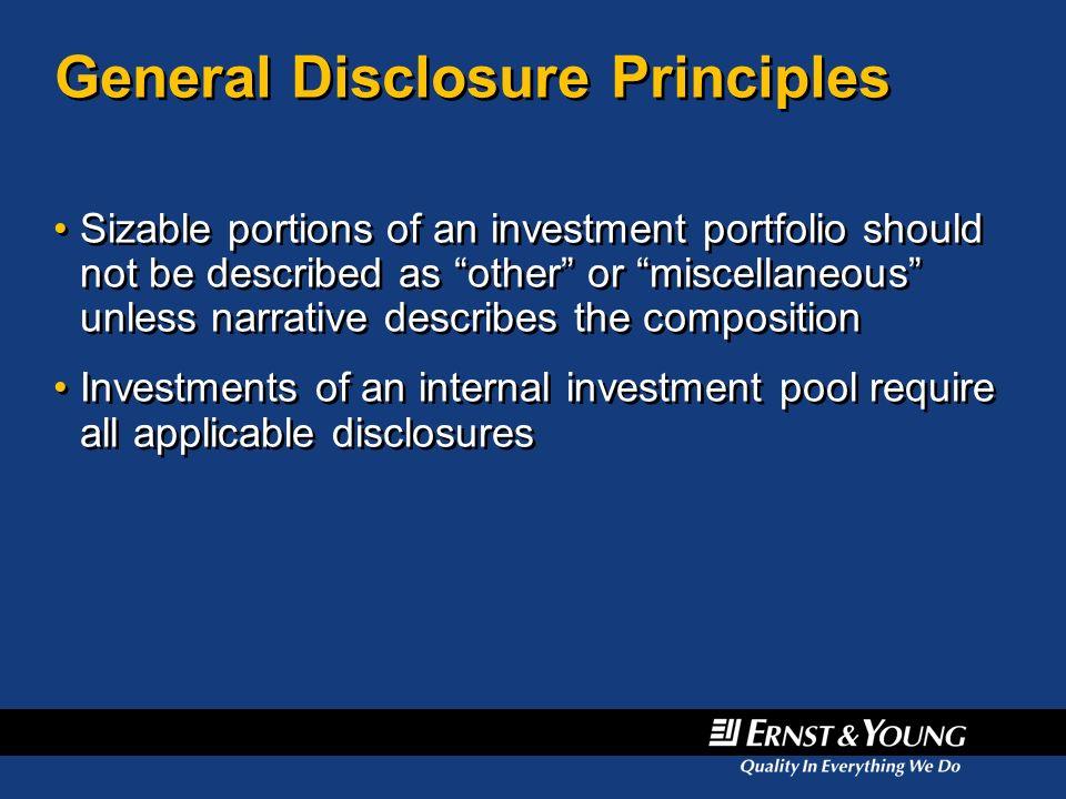 General Disclosure Principles