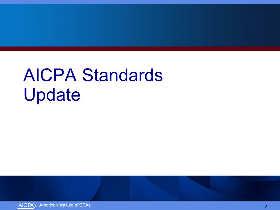 AICPA Standards Update