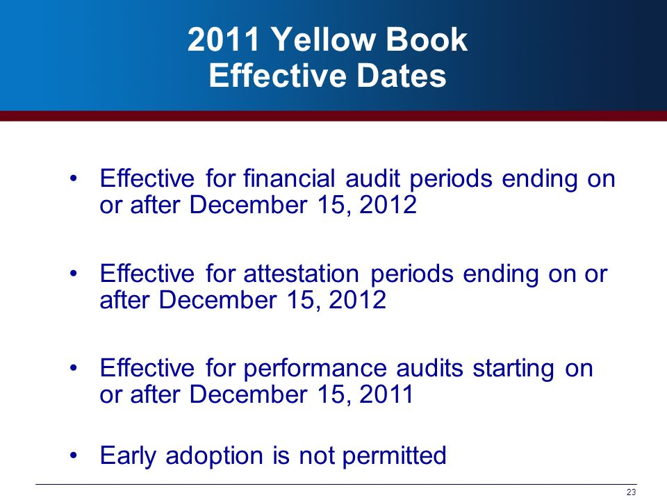 2011 Yellow Book Effective Dates