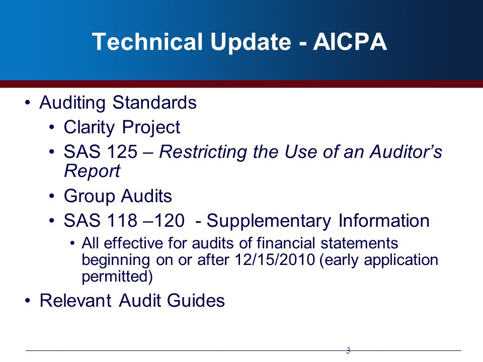 Technical Update - AICPA