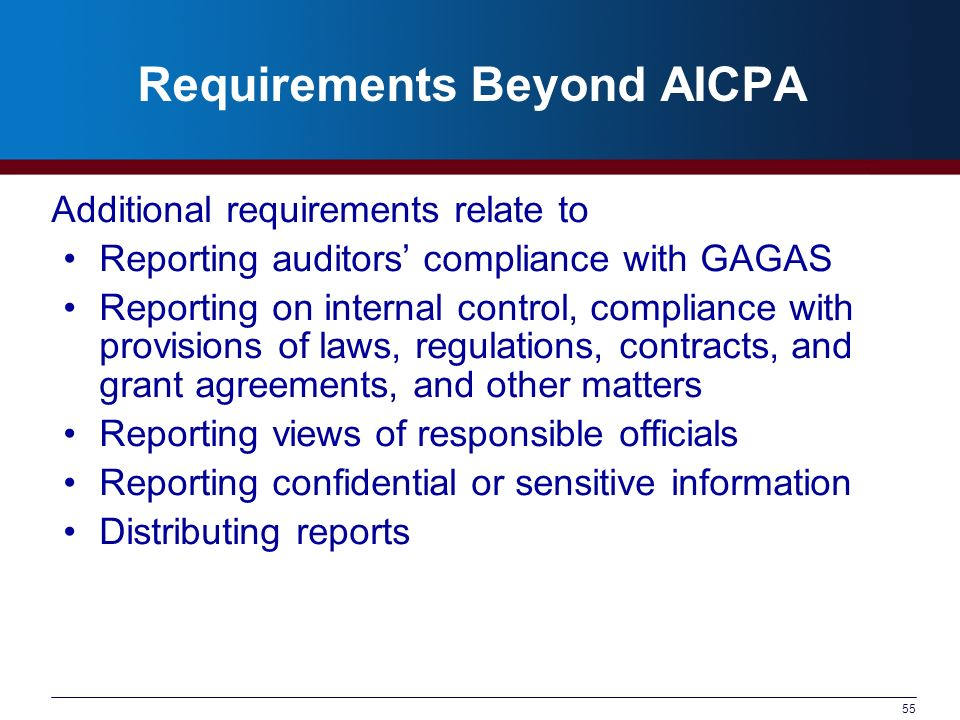 Requirements Beyond AICPA