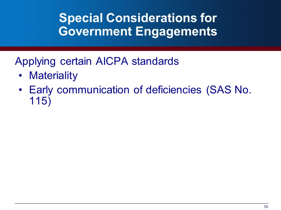 Special Considerations for Government Engagements
