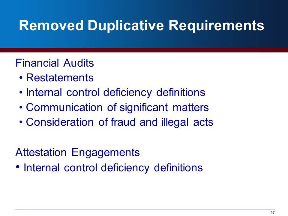 Removed Duplicative Requirements