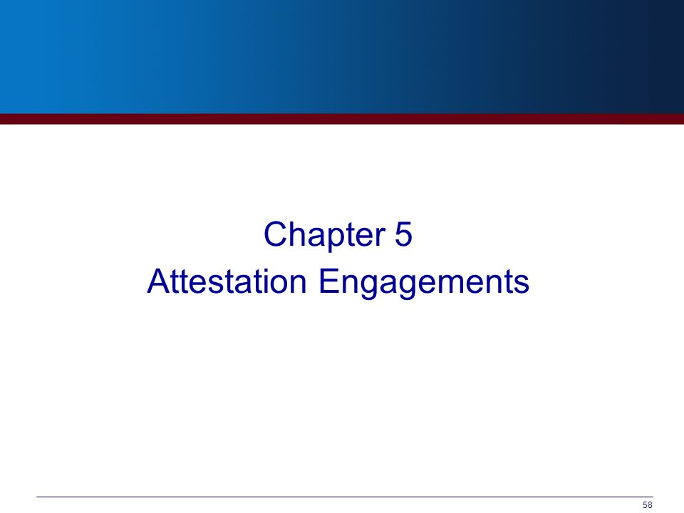 Attestation Engagements