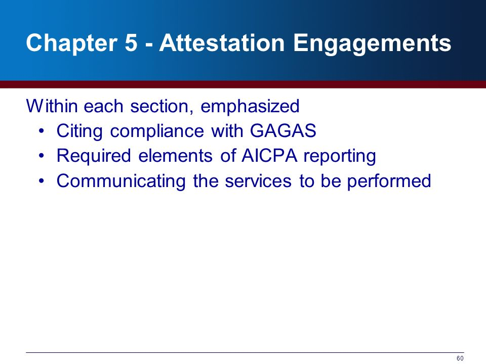Chapter 5 - Attestation Engagements