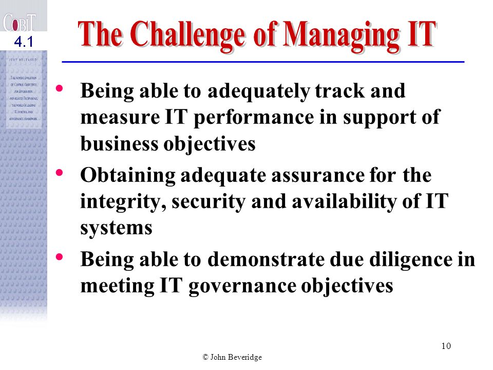The Challenge of Managing IT