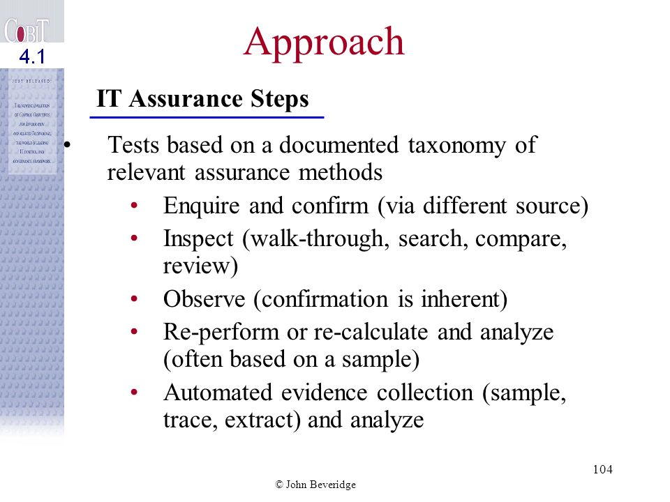 Approach IT Assurance Steps