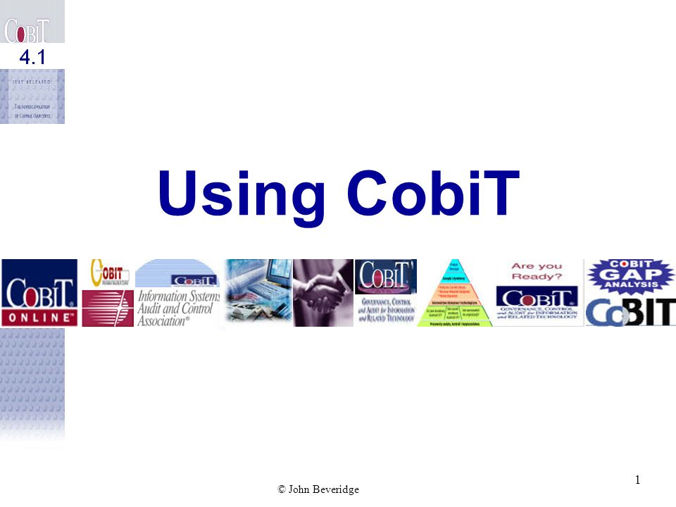 Using CobiT 1