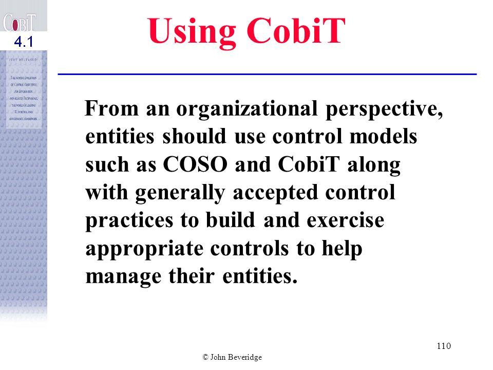 Using CobiT