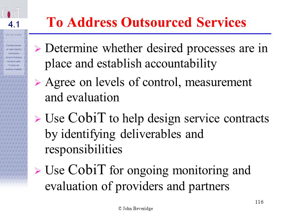 To Address Outsourced Services