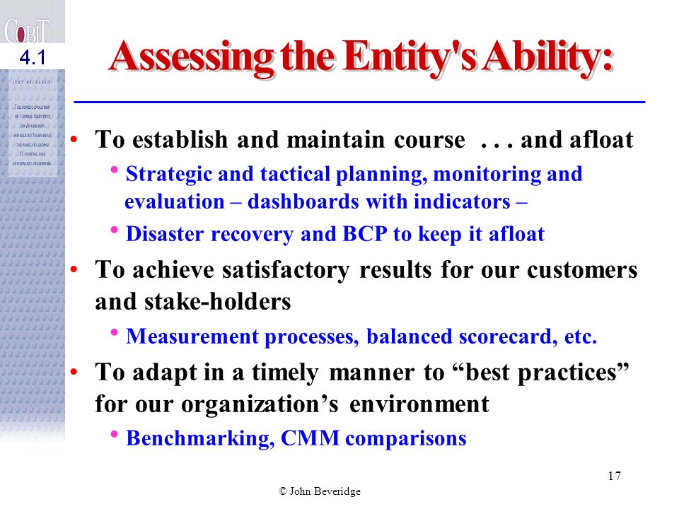 Assessing the Entity s Ability: