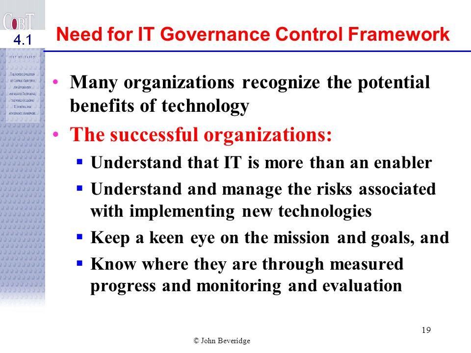The successful organizations: