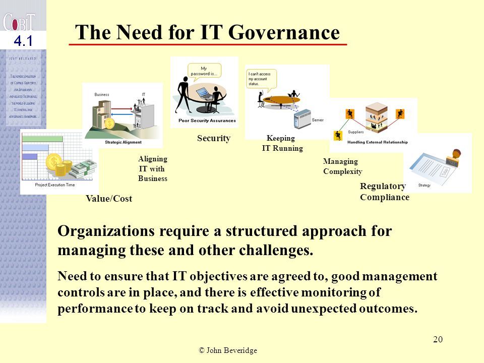 The Need for IT Governance