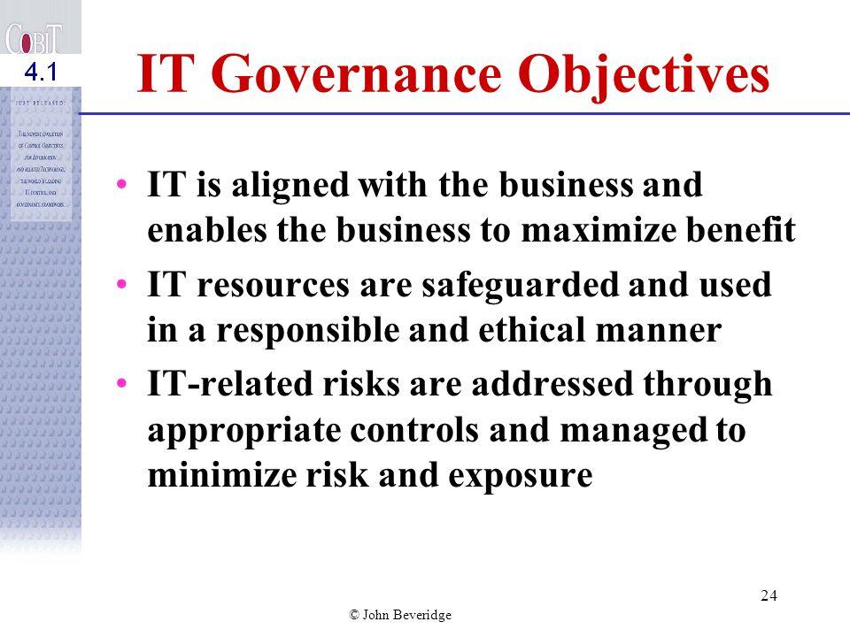 IT Governance Objectives