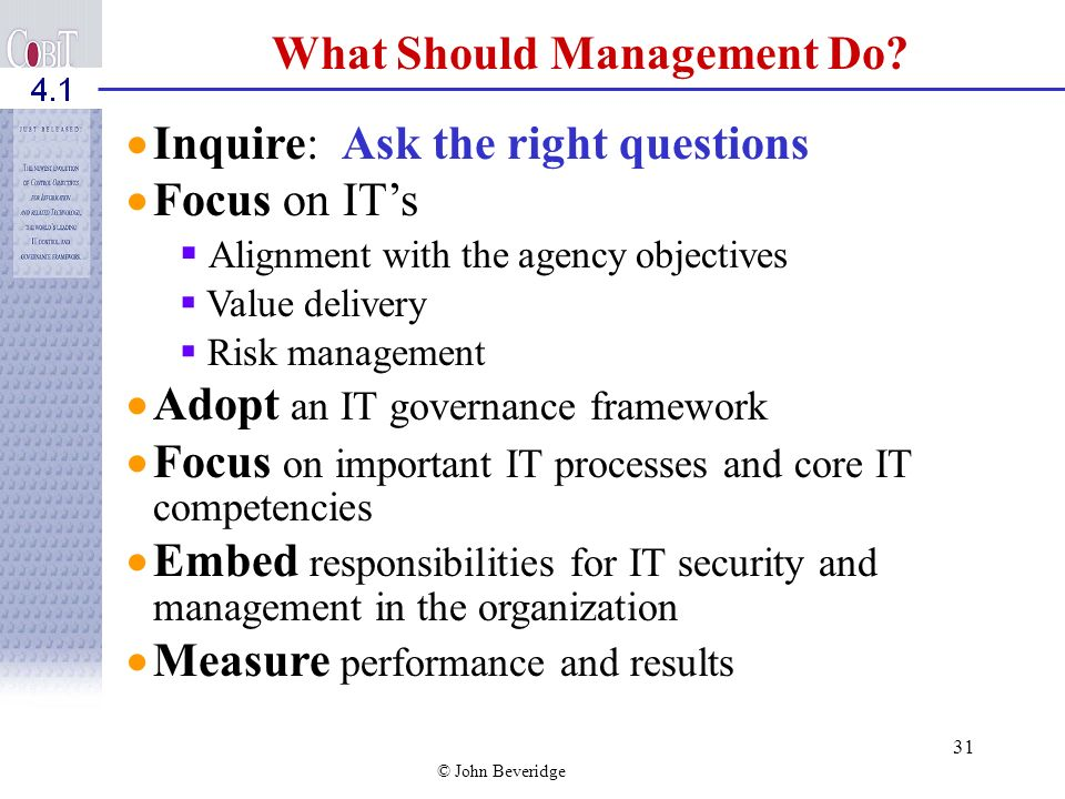 What Should Management Do